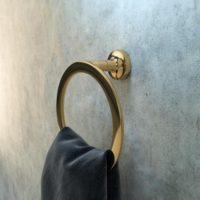 Geesa Gold Towel ring large