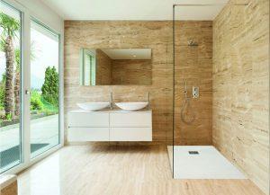Gemstone shower tray